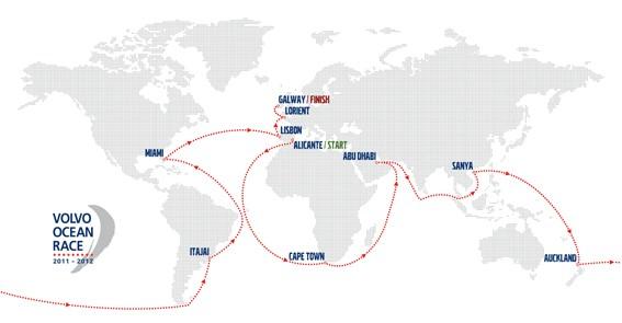 volvo ocean race karta Hela rutten klar för Volvo Ocean Race 2011 12   Båtliv volvo ocean race karta