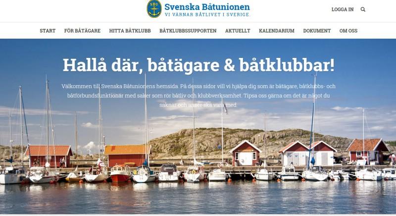Svenska Båtunionen byter hemsida och adress