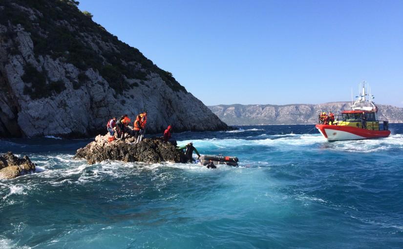 SSRS nya besättningar på plats på Samos