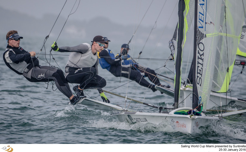 Sailing World Cup Miami is the second of six regattas in the 2016 series. From 25-30 January 2016, Coconut Grove, Miami, United States of America, is hosting more than 780 sailors who are competing across the ten Olympic and two Paralympic classes on the beautiful waters of Biscayne Bay.