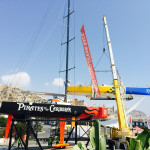 August 21, Brasil 1 is moved to the Volvo Ocean Race Museum entrance in Alicante.