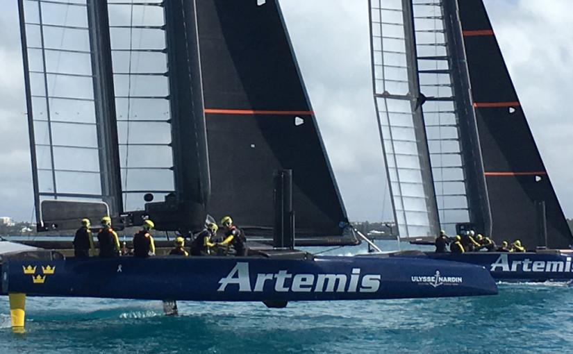 Artemis racing börjar träna med två båtar i Bermuda