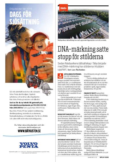 DNA-märkning Båtliv 1-16