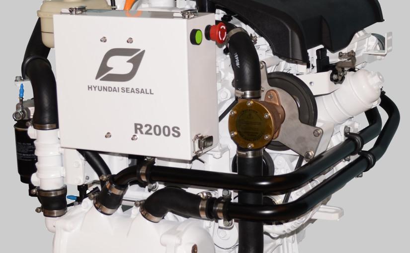 2,2 liters rak 4 marindiesel på 200 hk frånHyundai