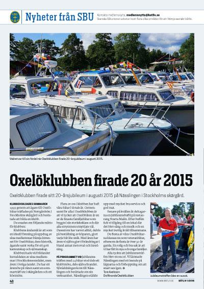 Oxelöklubben SBU-Nytt Båtliv 1-16