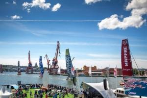Volvo Ocean Race-målgången i Göteborg i juni 2015 Foto Jonas Andersson