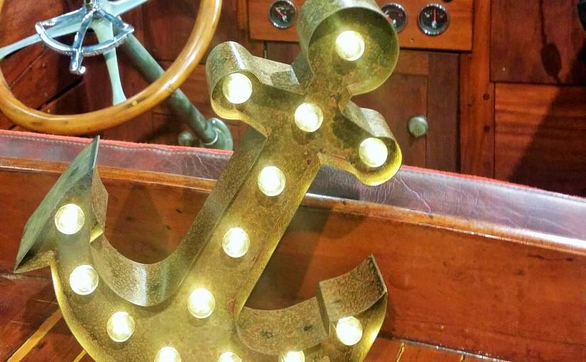 Ankarlampan på veteranbåt