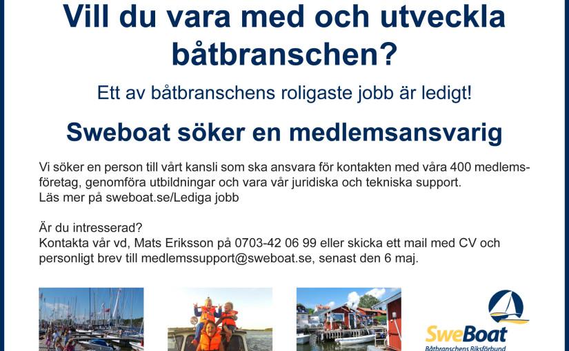 Sweboat söker ny medlemsansvarig