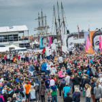 June 27, 2015. Inmarsat In-Port Race Gothenburg. Prizegiving in the Race Village.