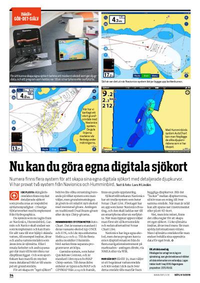 Digitala sjökort djupkurvor Båtliv 3-16