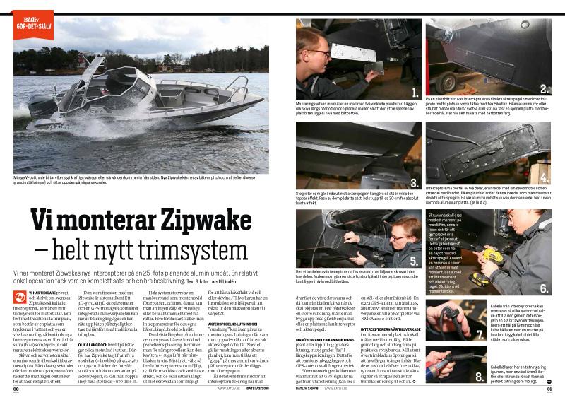Zipwake montering Båtliv 3-16-1