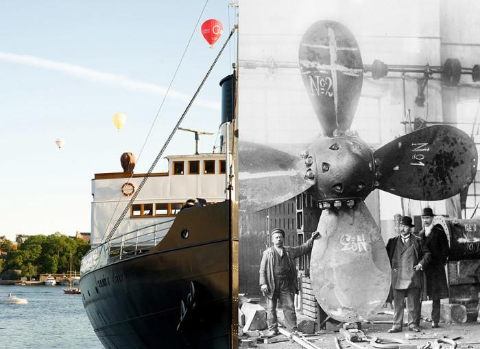 Isbrytarkafé, ångmaskiner och veteranbåtar på Galärvarvet