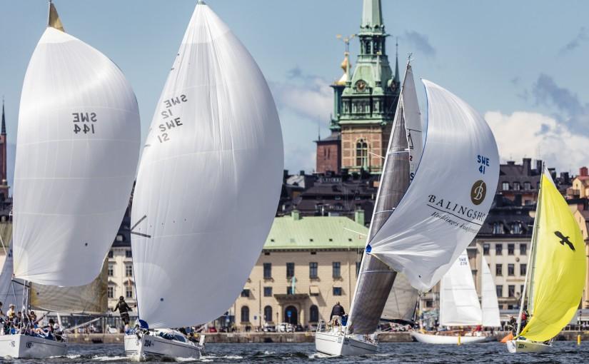 Seglarfest mitt i Stockholm City