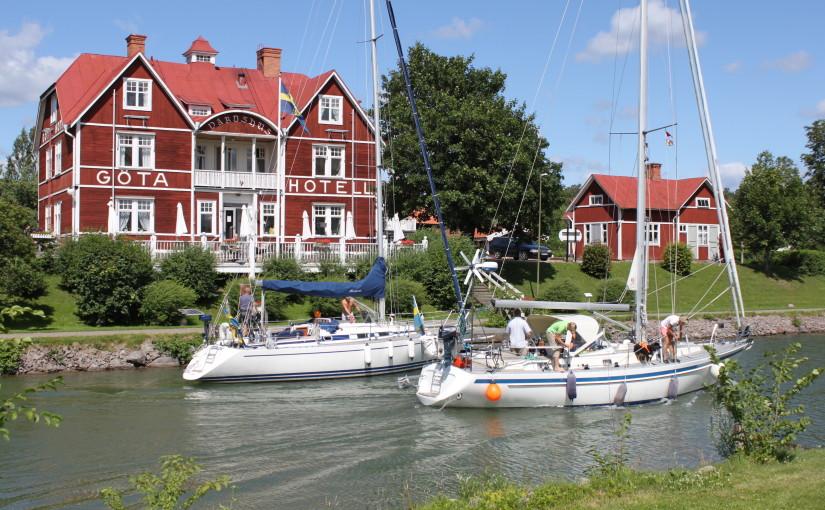 Stark sommar för Göta kanal