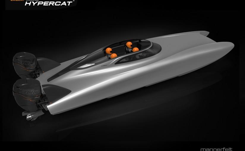 """""""Hypercat"""" i öppen version för nöjesbruk – 1,5 lit/Nm i 70 knop"""