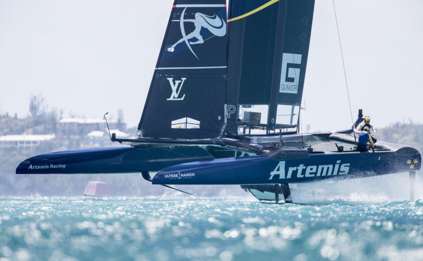 Bra start av Artemis Racing