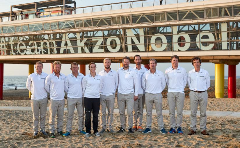 Team AkzoNobel presenterar besättningen till Volvo Ocean Race