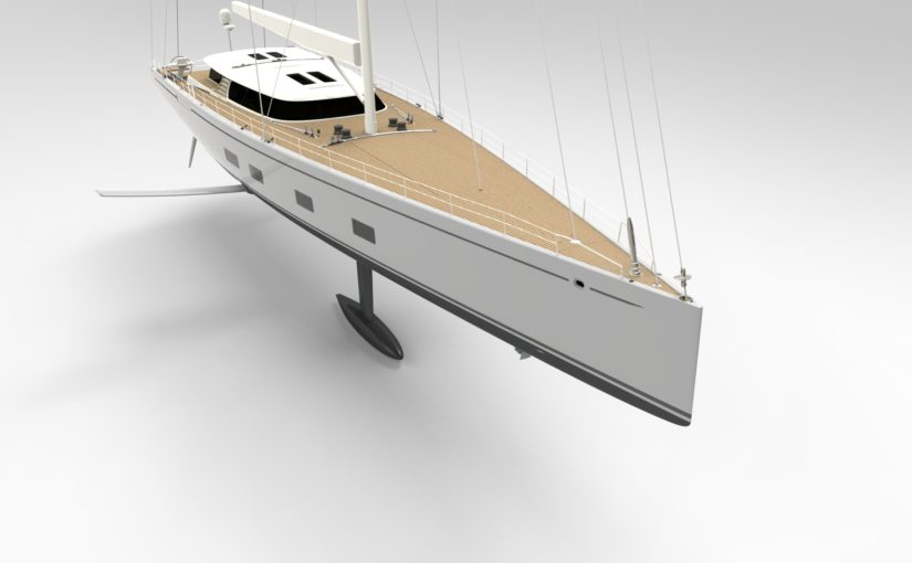 Baltic bygger 43,3 m foilande superyacht