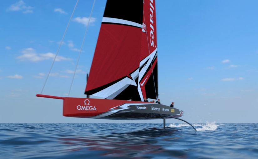 Superbåtar med foilande kölar i America's Cup