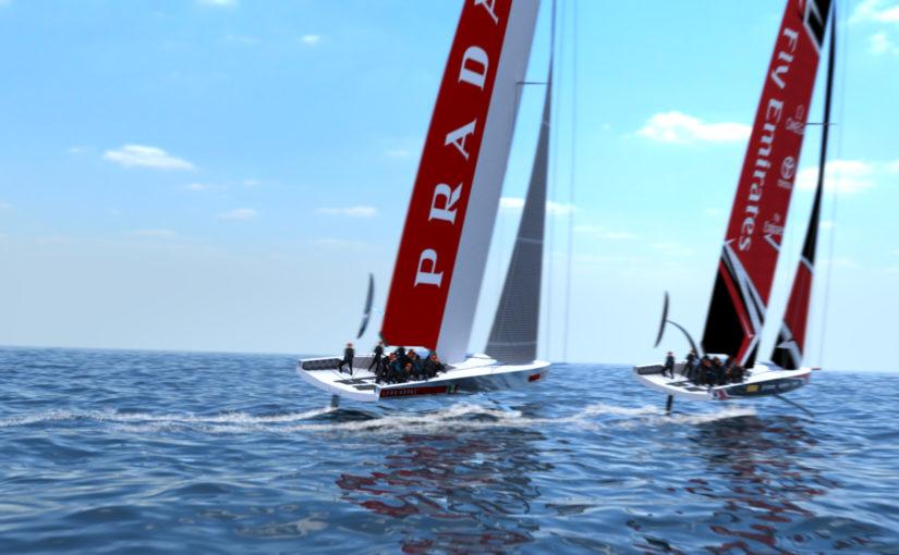 22,5 m enskrovsbåtar i nästa America's Cup