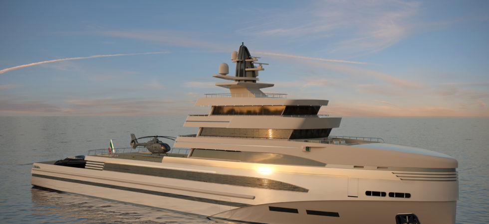 Superyacht med Rolls-Royce hybridmotorer