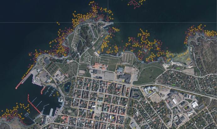 Sveriges strandlinje är kartlagd