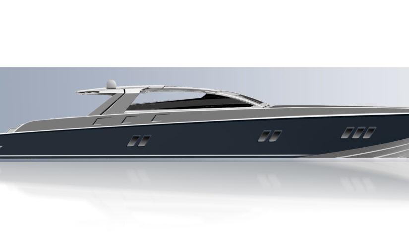 45 knops superbåt med måsvingetopp