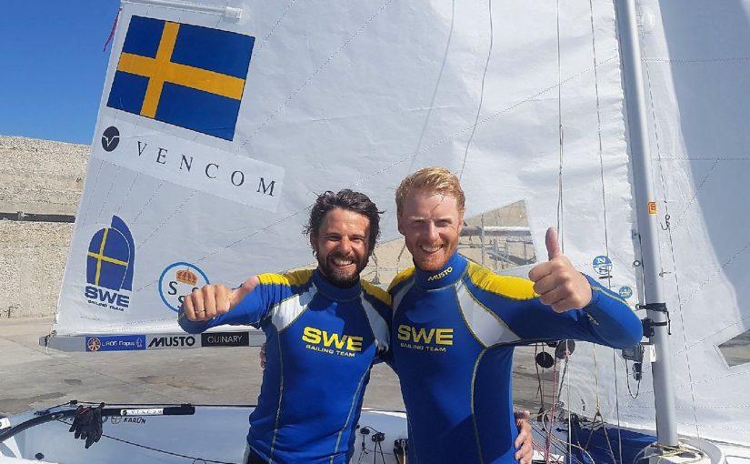 EM-guld i 470 till Anton och Fredrik