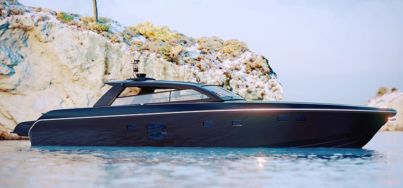 Lyxig italiensk kabinbåt god för 45 knop
