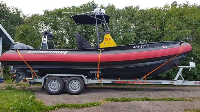 Sjöräddningstation i Dalarna komplett med ny båt