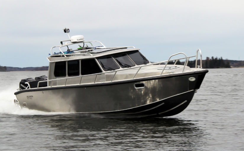 Sex Alukinbåtar på Allt på Sjön i Gustavsberg