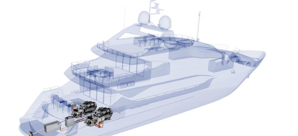 Sunseeker bygger superyacht med hybriddrift