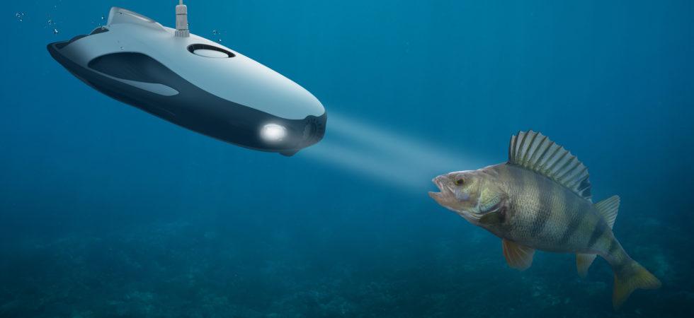 Drönare visar världen under vatten