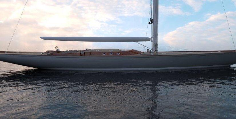 34 m miljövänlig superyacht byggd i trä