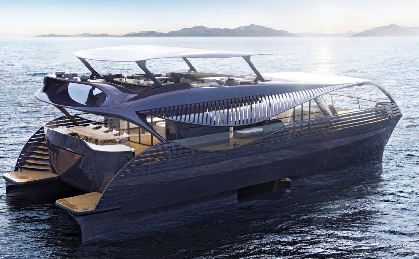 Soldriven yacht för havet