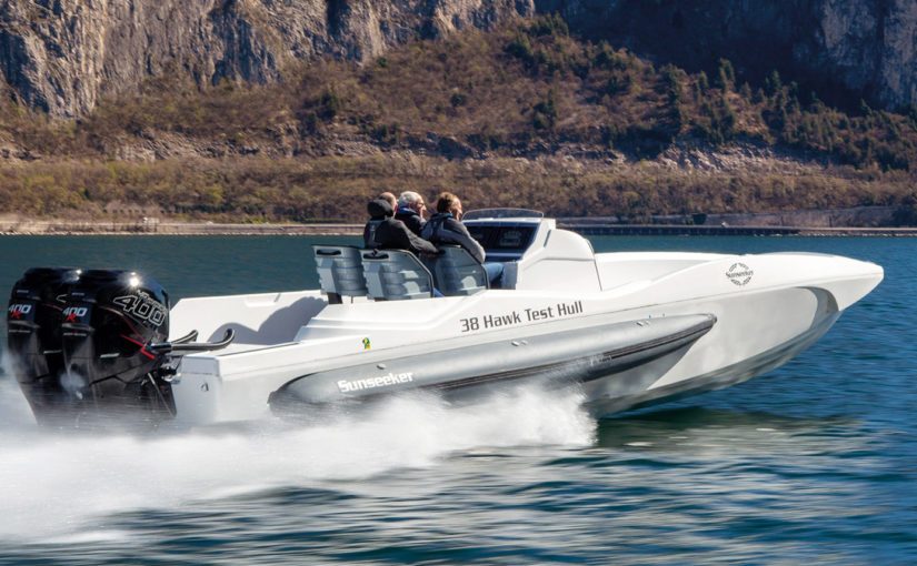 Film – Sunseeker Hawk 38 testad i 68,7 knop