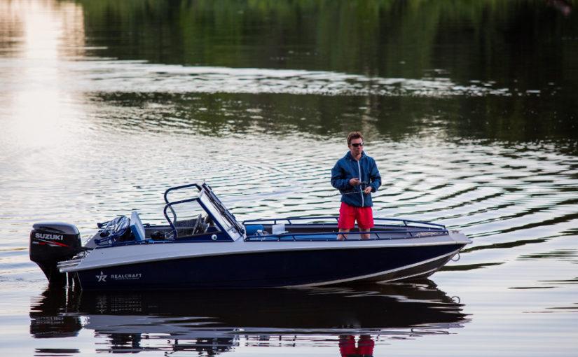 Aluminiumbåt med fokus på fiske