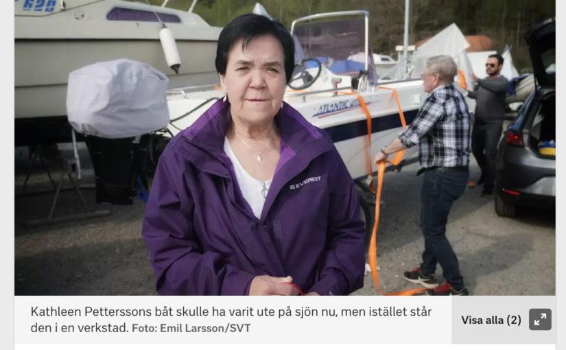 SVT gör inslag om båtmotorstölderna