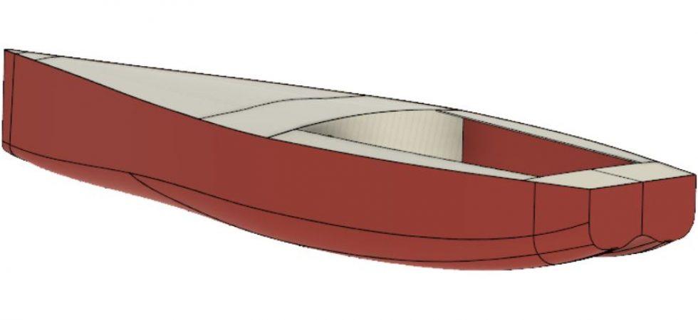 Ny svensk segelbåt 3D-printas i skala 1:5