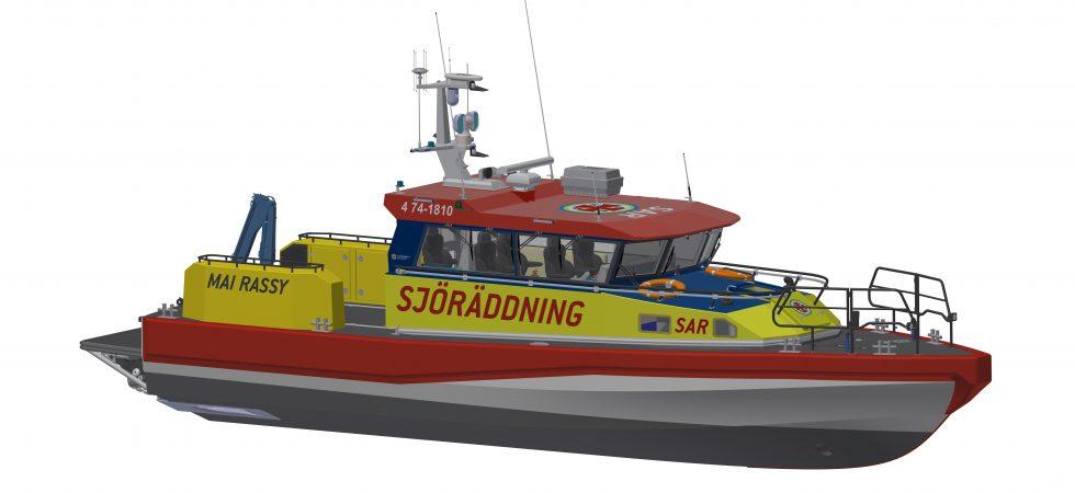 Rassy donerar nyutvecklad räddningsbåt till Sjöräddningssällskapet