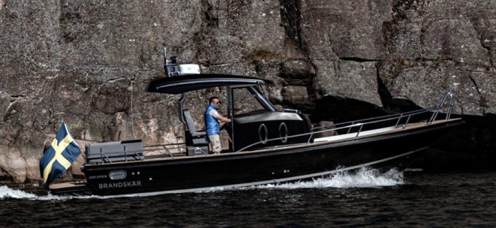 Brandskär 290 Open premiär på Marstrand Boat Show