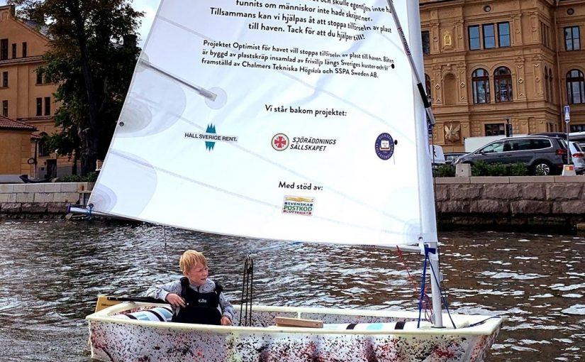 Optimist för havet på båtmässan Allt på Sjön