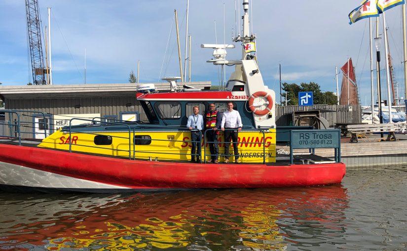 Företag donerar RAKEL-utrustning till Sjöräddningssällskapet