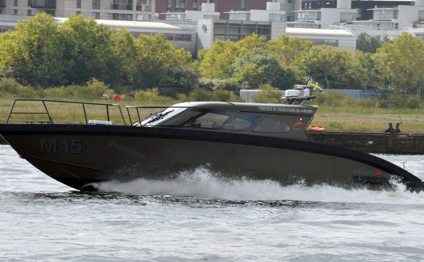 Marell M15 patrullbåt med svenska dieslar