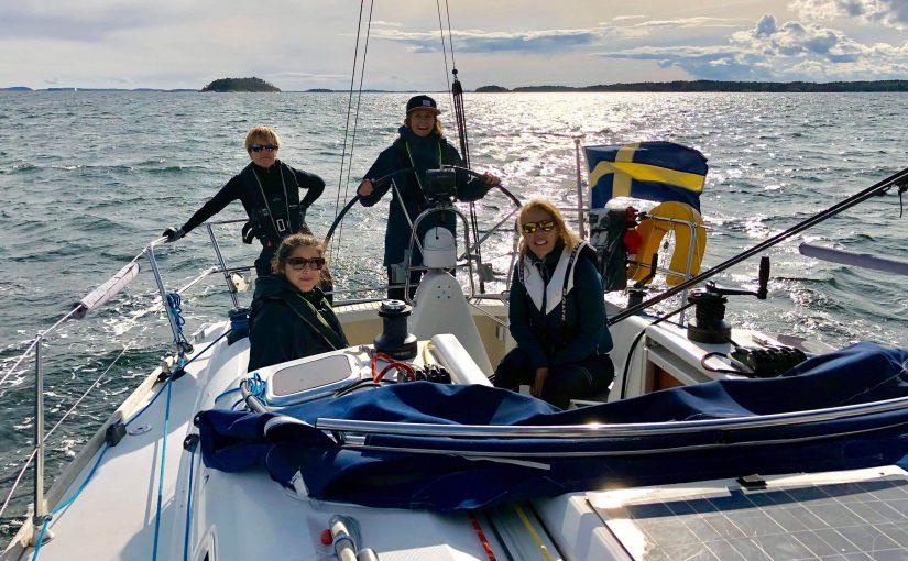 Världens största kvinnliga seglingseskader hölls i Stockholm i helgen