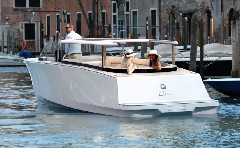 Eldriven limousinebåt får världspremiär i Düsseldorf