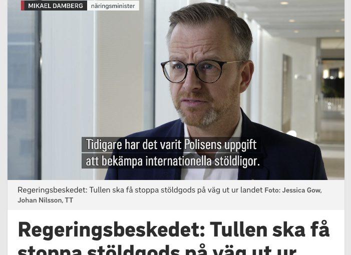 Äntligen kan utförseln av stöldgods från Sverige stoppas