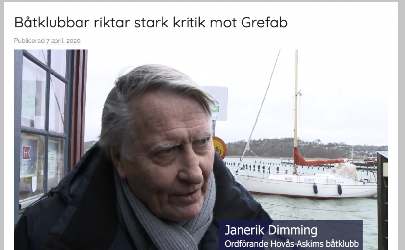 Stark kritik från båtklubbar mot Grefab i Göteborg
