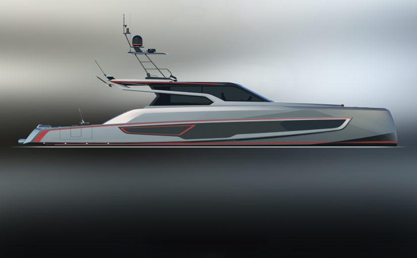 Superlyxig sportfiskebåt i superyachtklassen