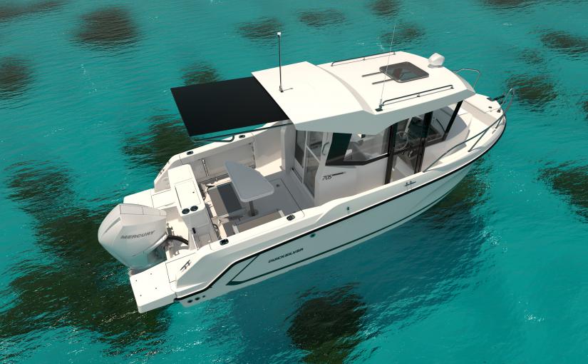 6,6 m fiskebåt med kabin från Quicksilver
